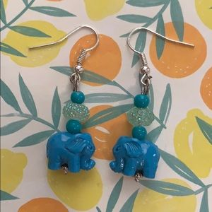 Jewelry - Blue elephant earrings 💙